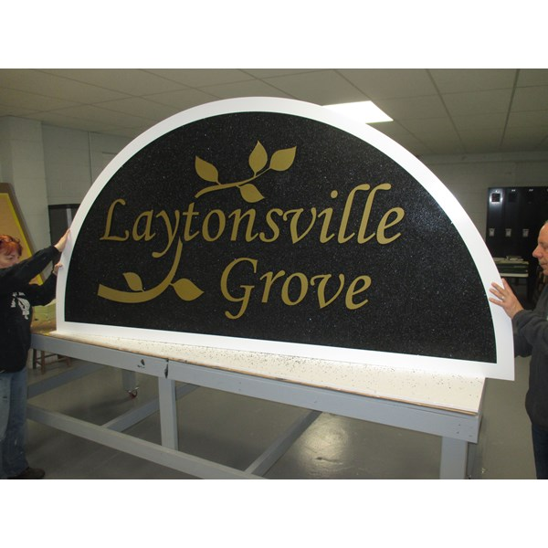 Carved & Routed HDU Sign